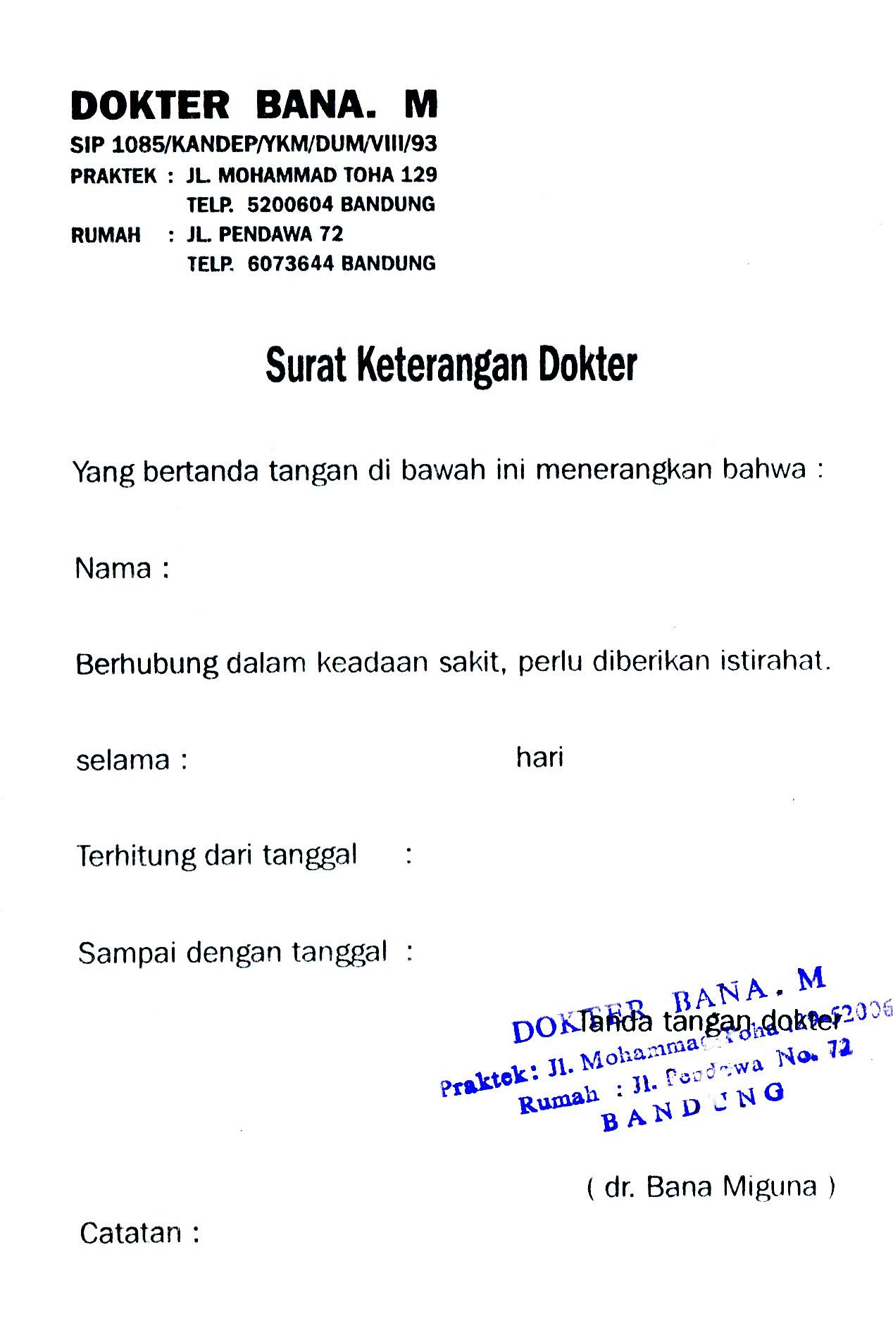 Contoh Surat Resign Dari Rumah Sakit - Contoh U