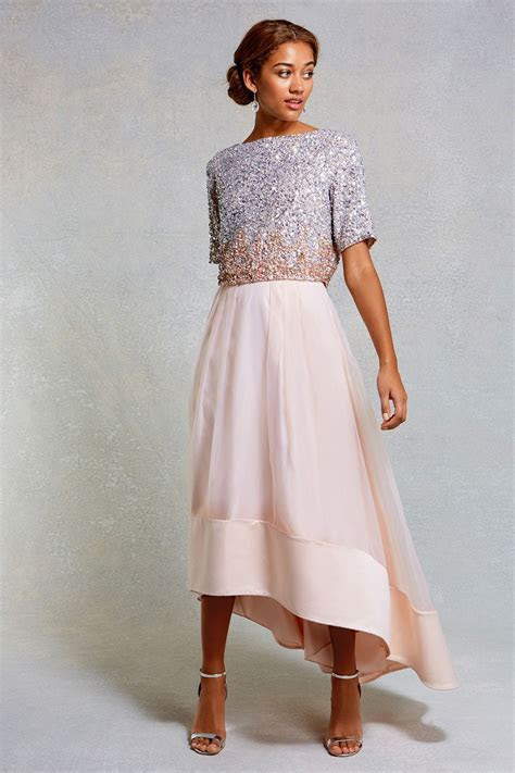 Sequin Dresses & Outfits   Pinks DORIANNA SEQUIN OMBRE TOP