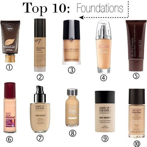 25  best ideas about Top 10 foundations on Pinterest   Top