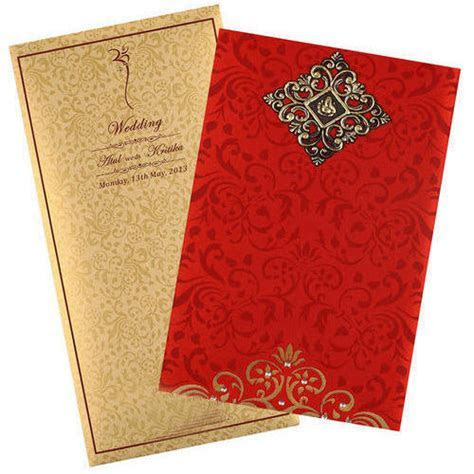 Wedding Invitation Card at Rs 1000 /100 cards   Wedding