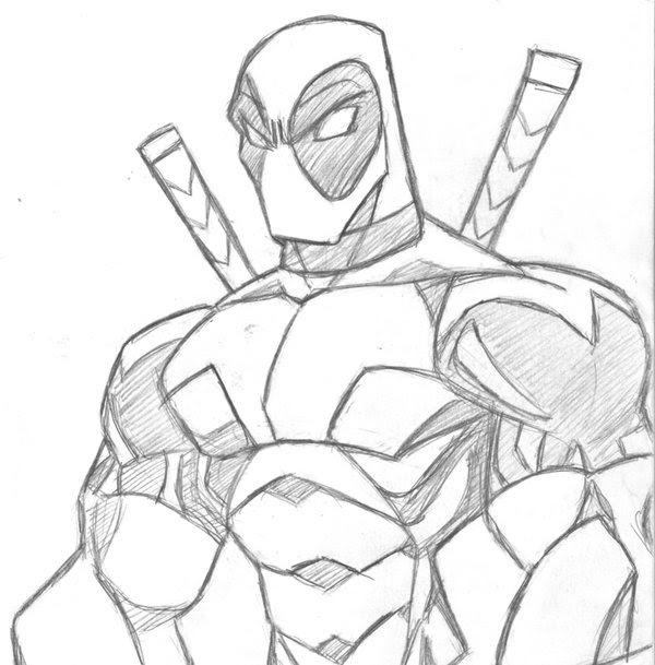 How To Draw Deadpool Face Step By Step Drawing Art Ideas