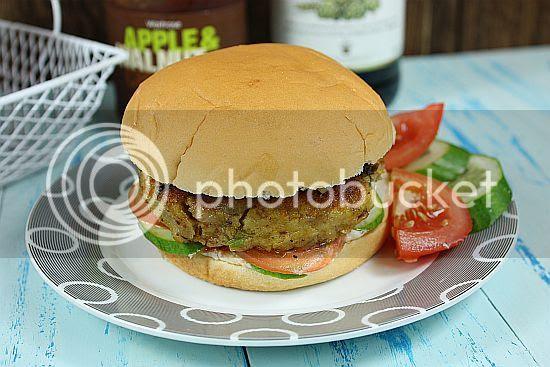 Chickpea burger 1