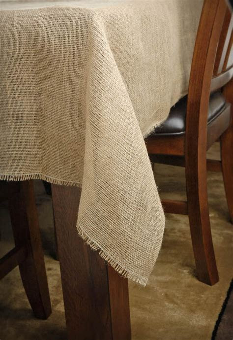 Burlap Square Tablecloth 54in
