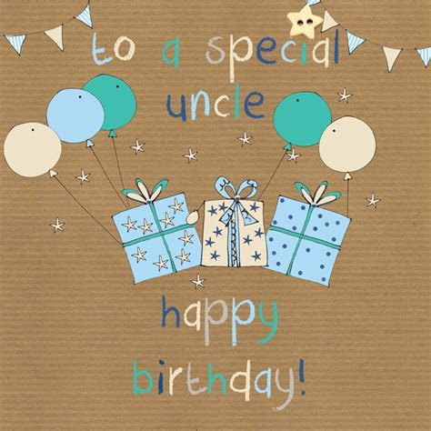 To A Special Uncle Birthday Card   Karenza Paperie