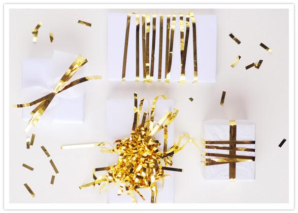 shiny holiday gift wrap