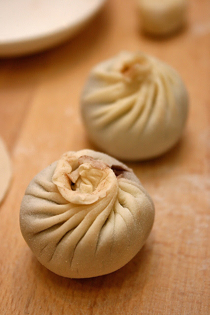 The ugly xiao long bao I made! Yes, complete with torn skin!