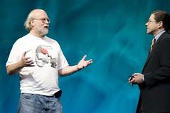 "Jonathan Schwartz and James Gosling, General Session ""Java: Change (Y)Our World"" on June 2, JavaOne 2009 San Francisco"