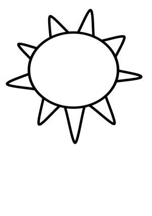 Garis Besar Matahari Vektor Clip Art Vektor Gratis Download Gratis