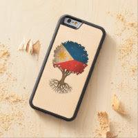 Filipino Flag Tree of Life Customizable Carved® Maple iPhone 6 Bumper Case
