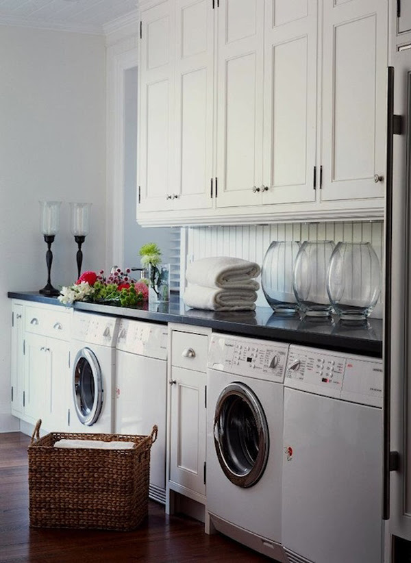 10 Black and White Laundry Room Design Ideas | homemydesign.