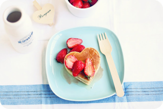 Balsamic Strawberries & Pancakes