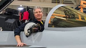 Ricardo Traven is a former Canadian air force pilot and now chief test pilot for the Super Hornet, Boeing's rival fighter jet to Lockheed Martin's F-35.