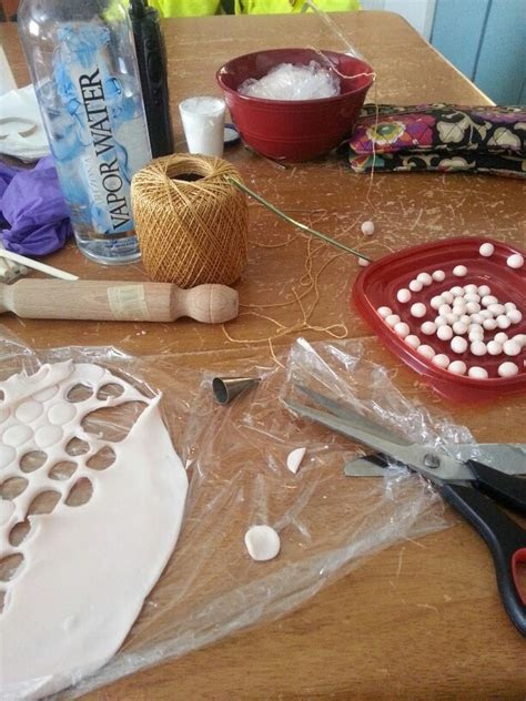 Step 1 fondant pearl Rosary beads   Cake decorating