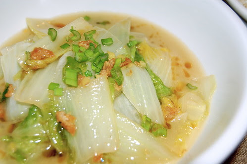White-cooked Chinese Cabbage