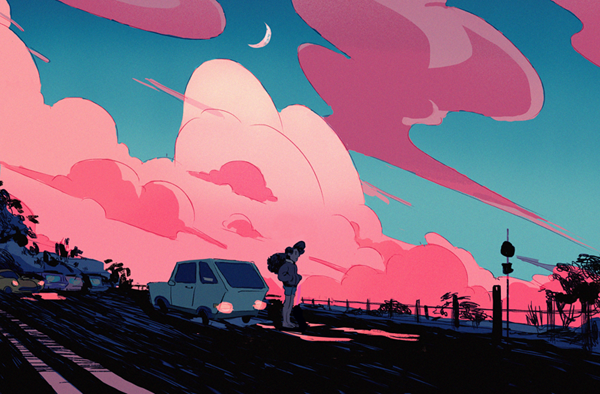 A quick sunset and a Stevonnie.