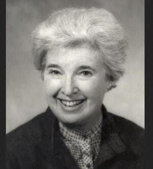 Professor Gerda Lerner, in a handout from the University of Wisconsin, Madison