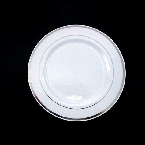 30 People Dinner Wedding Disposable Plastic Plates