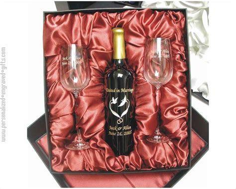 Engraved Wine Bottle Gift Sets