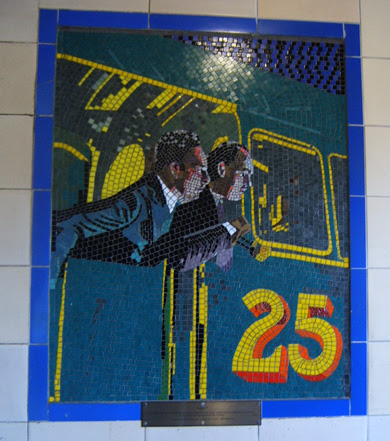 Hitchcock Leytonstone London Underground Mosaics - Car 25