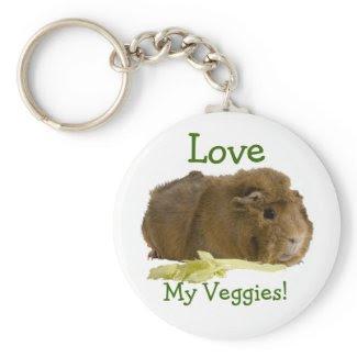 Love My Veggies! keychain