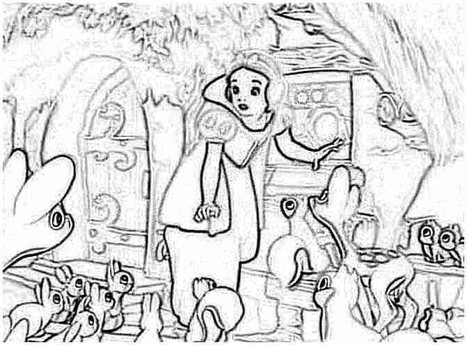 Blancanieves Y Los Siete Enanitos Dibujos Infantiles Dibujo Para