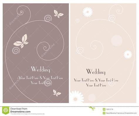 Set Wedding Invitation Card 3 Royalty Free Stock Photos