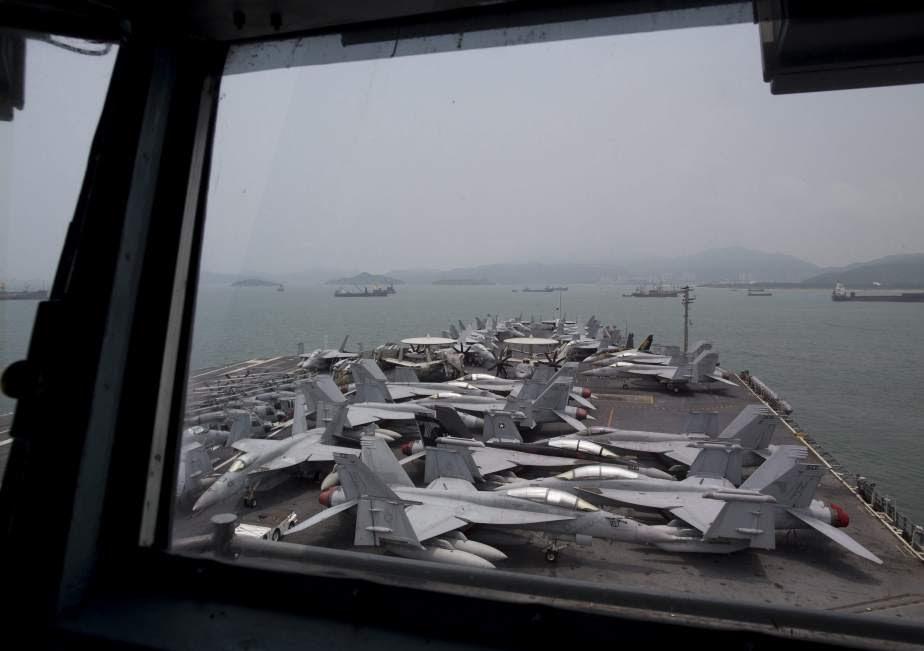 Portaaviones de EE UU en China