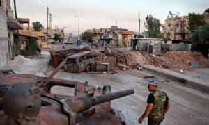 A member of the Free Syria Army, Aleppo province