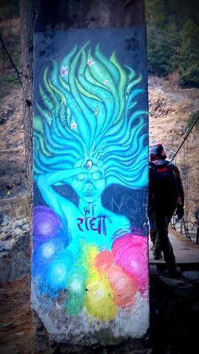 Brightly Street Art in Kasol