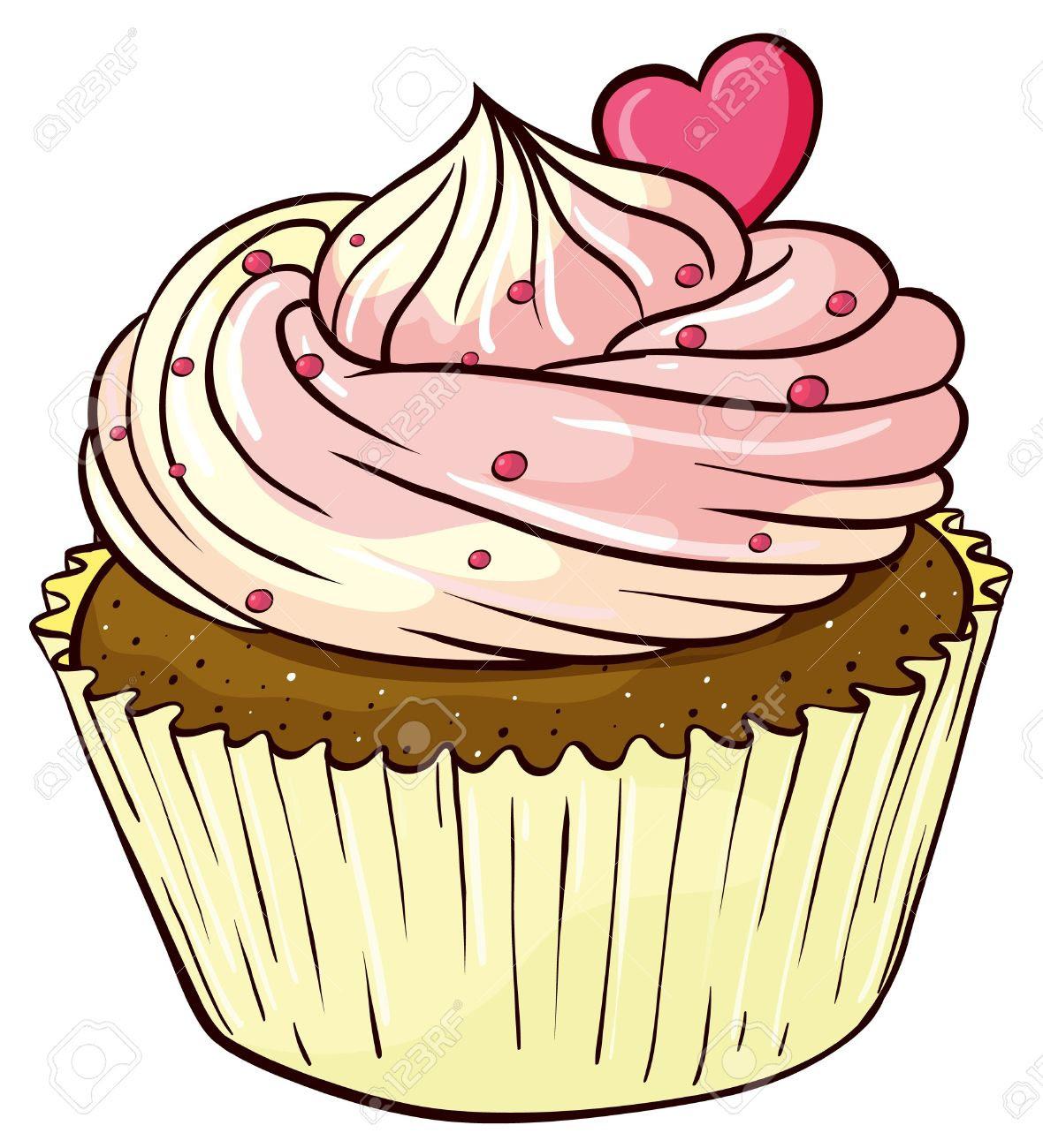 Cartoon Cupcake For Childrens