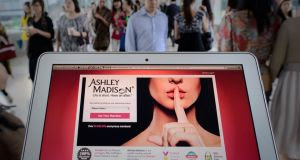The Ashley Madison website that allowed married members to share their secret sexual fantasies. Photograph: Getty Images