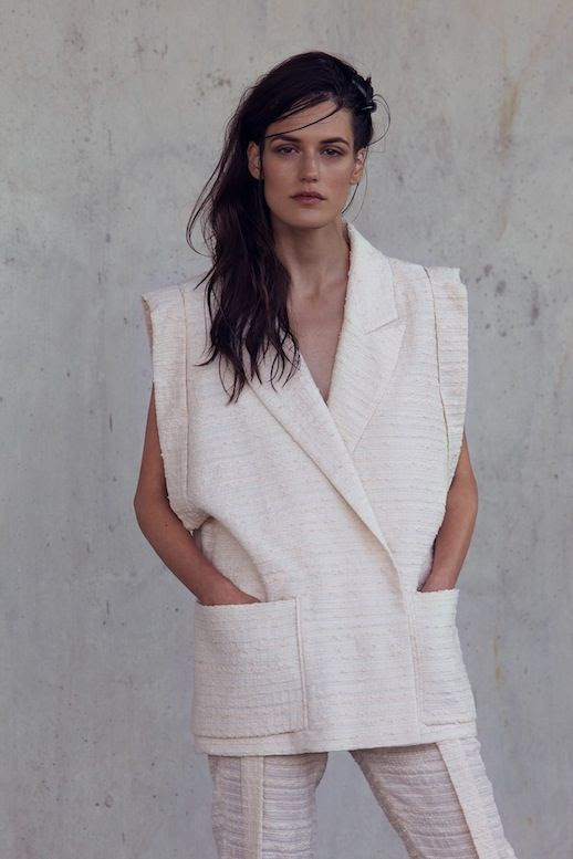 Le Fashion Blog Carin Wester SS 2014 Lookbook Statement Shoulder Sleeveless Blazer photo Le-Fashion-Blog-Carin-Wester-SS-2014-Lookbook-Statement-Shoulder-Sleeveless-Blazer.jpg