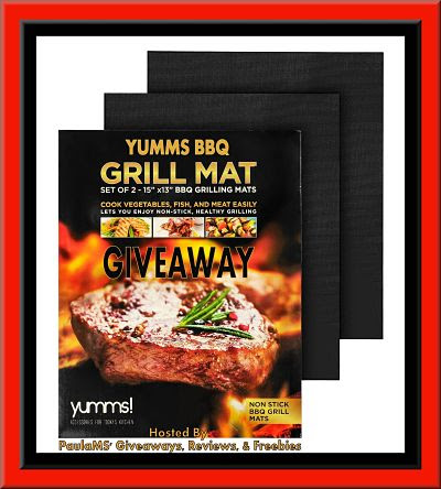 Enter to Win! Yumms BBQ Grill Mat #Giveaway ends 7/5