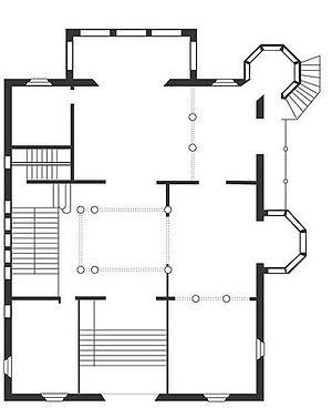 Planol planta baixa Casa Trinxet (Barcelona)