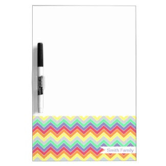 Candy Coated {chevron pattern} Dry-erase Whiteboards