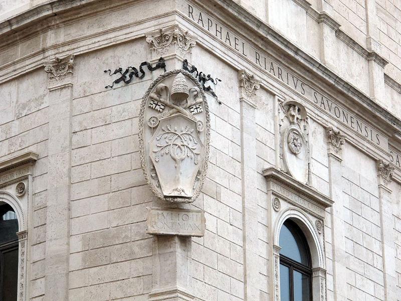 File:Palazzo della cancelleria, roma, stemma della rovere.JPG