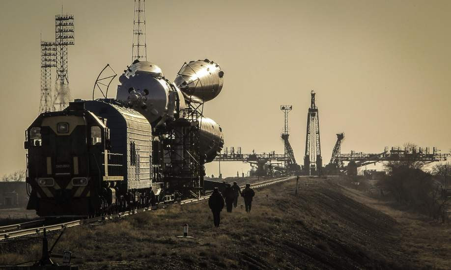 Preparando el lanzamiento de la Soyuz