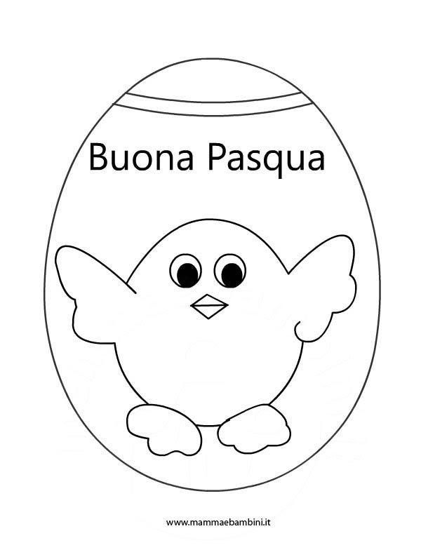 Disegno Per Pasqua Da Colorare Mamma E Bambini