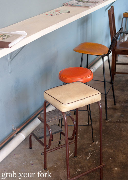 chairs and stools at Something for Jess cafe in Chippendale