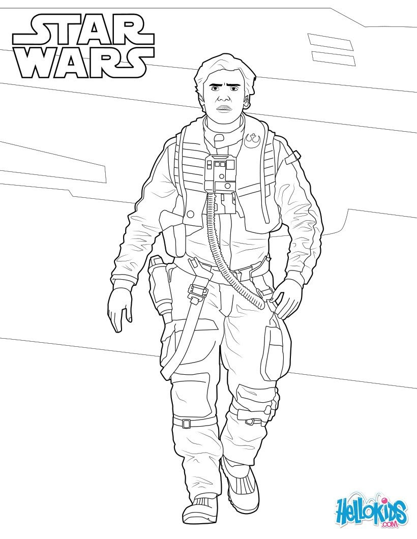 poe dameron star wars coloring page 83m