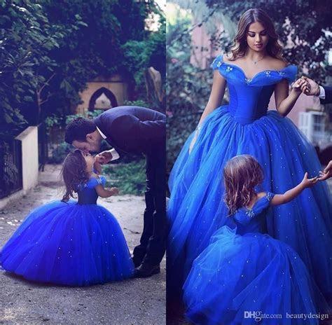 2017 Royal Blue Toddler Flower Girls Dresses For Weddings