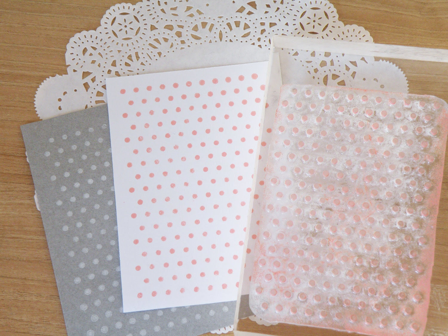 Dotted pattern clear stamp