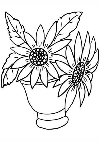 Disegni Di Girasoli Da Stampare E Colorare Coloradisegni