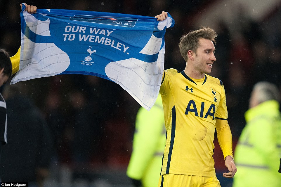 Tottenham have Eriksen to thank after his two goals at Bramall Lane booked their place in the Capital One Cup final