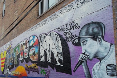 """There&#39;s already a mural dedicated to John """"Vietnam"""" Nguyen on Argyle Street, in an alley between Winthrop and Kenmore avenues. <br />"""