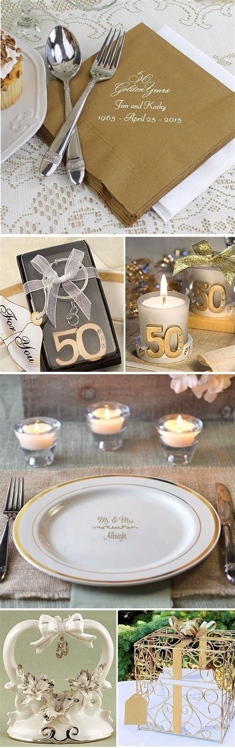 Personalized table decorations like napkins and plates, 50