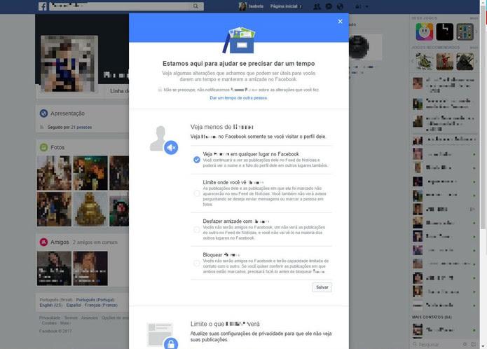 Como Dar Um Tempo Com Alguém No Facebook Dicas E Tutoriais Techtudo