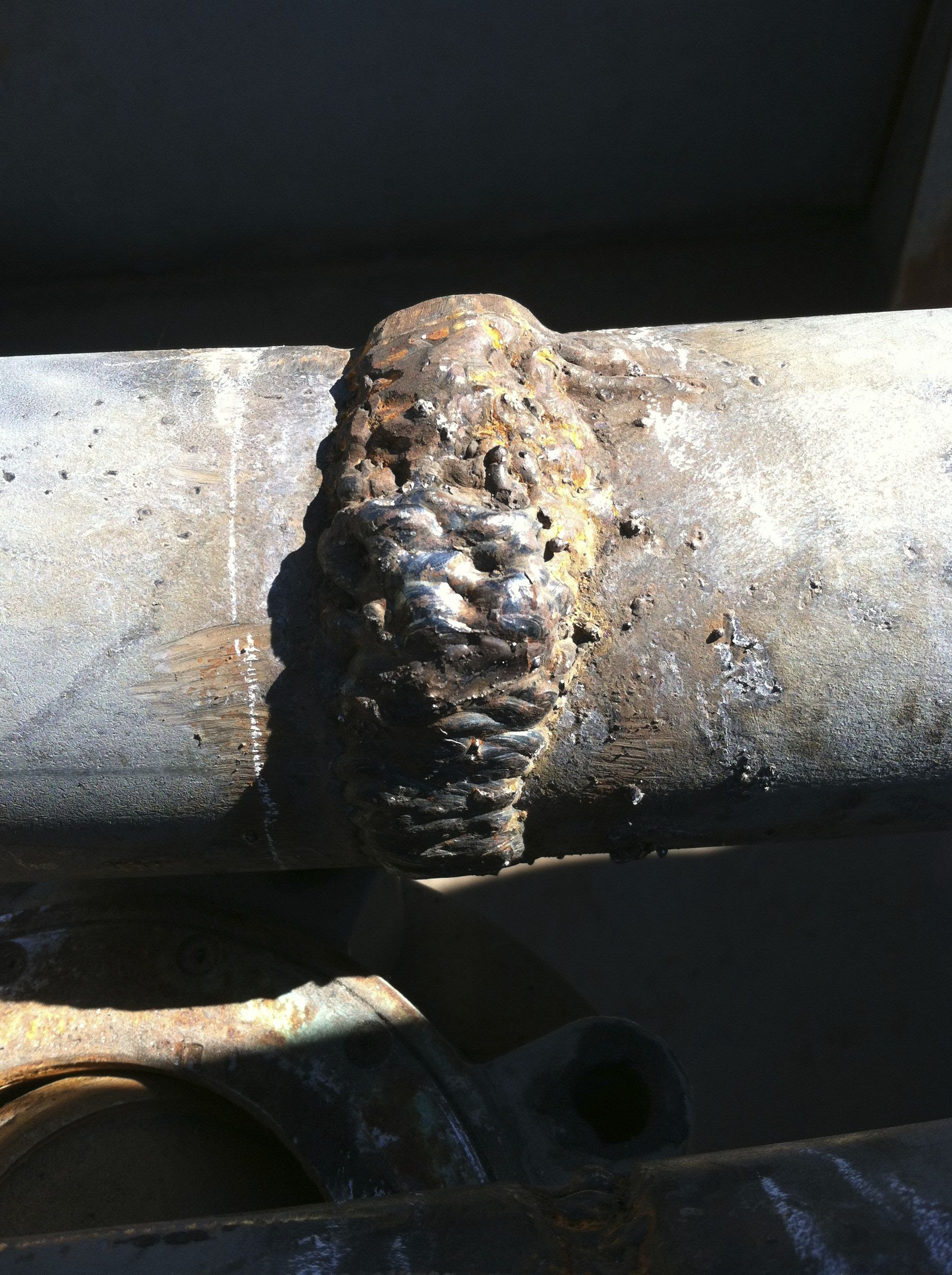 The worst 'pipe weld' I've ran across (had to be cut out ...