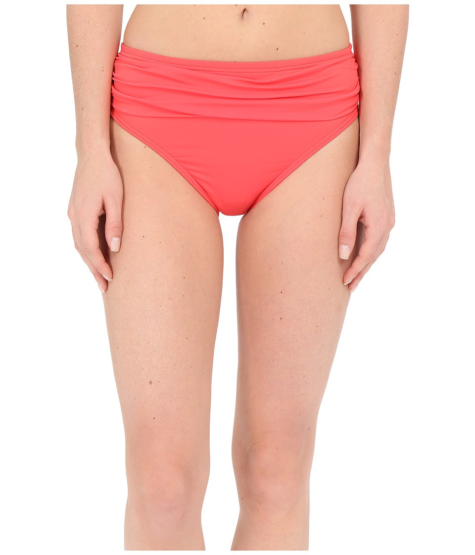 Tommy Bahama - Pearl Solids High Waist Sash Pants (Bright Coral) Women's Swimwear