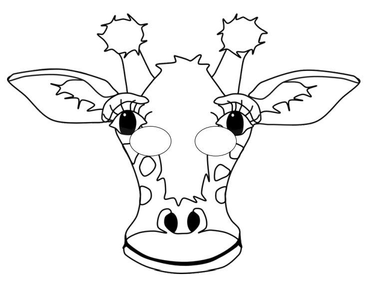 Kağıttan Zürafa Maskesi
